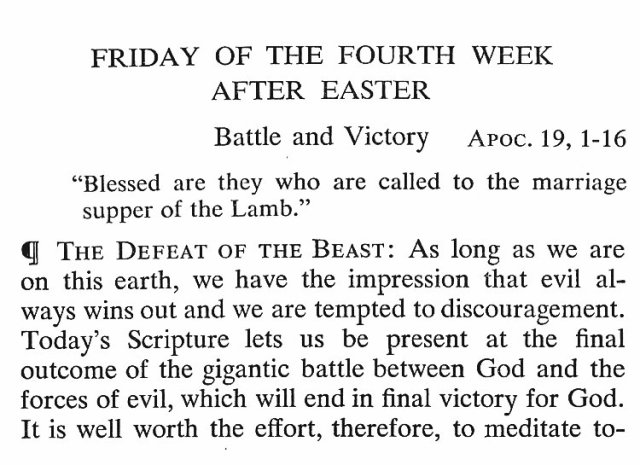 Friday of the 4th Week after Easter 1