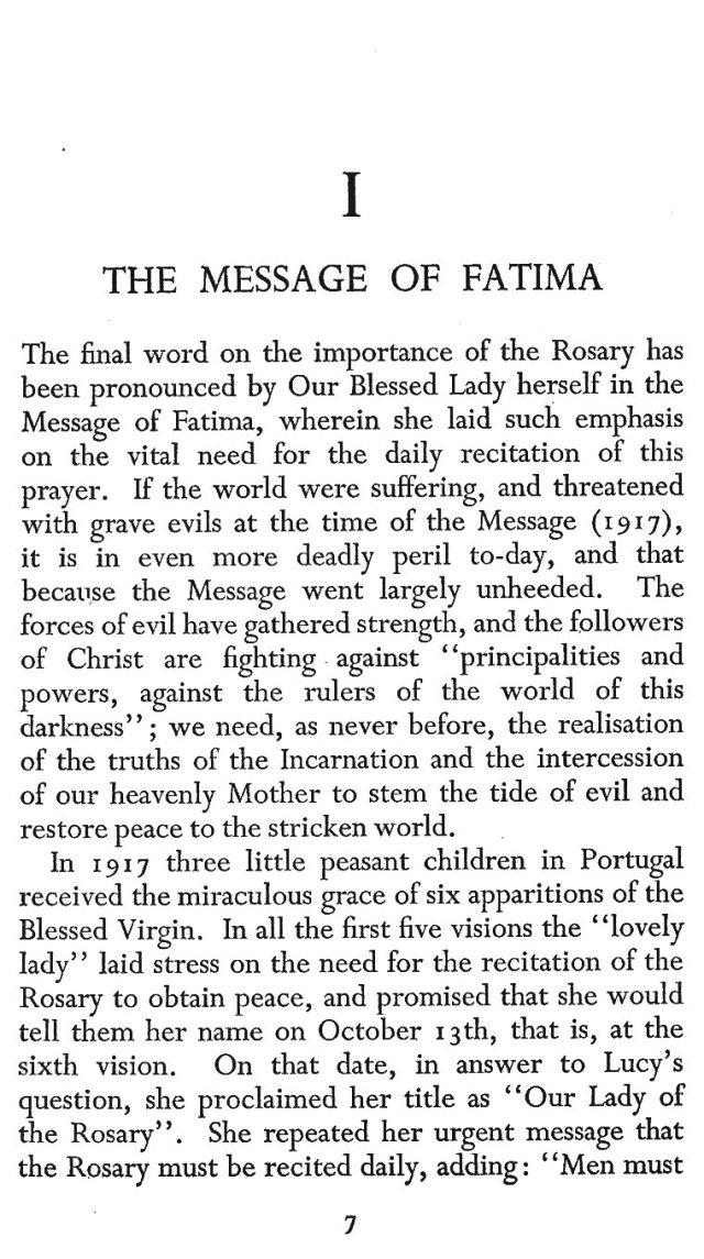 Message of Fatima 1
