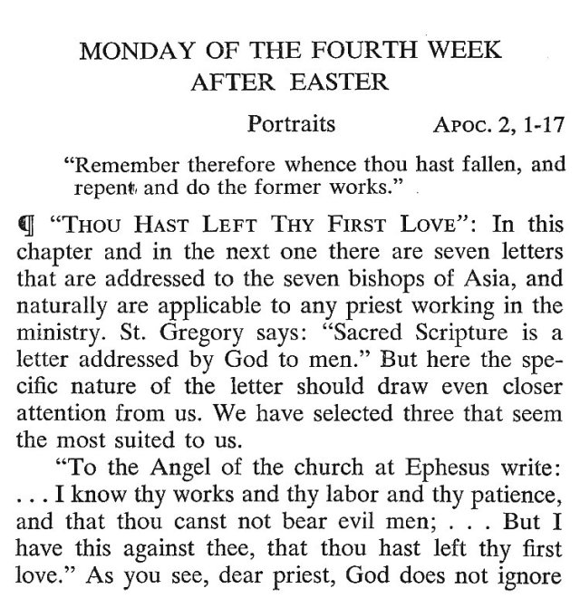 Monday of the 4th Week after Easter 1