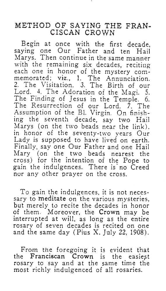 Seraphic Rosary 4
