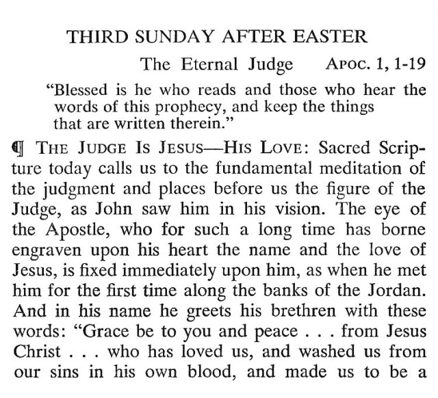 Third Sunday after Easter Breviary Meditations 1