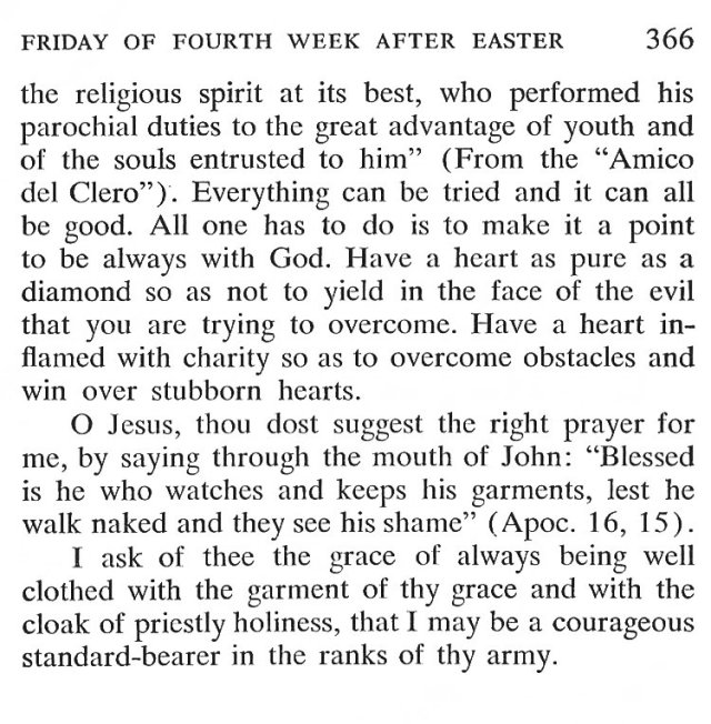 Thursday of the 4th Week after Easter 6