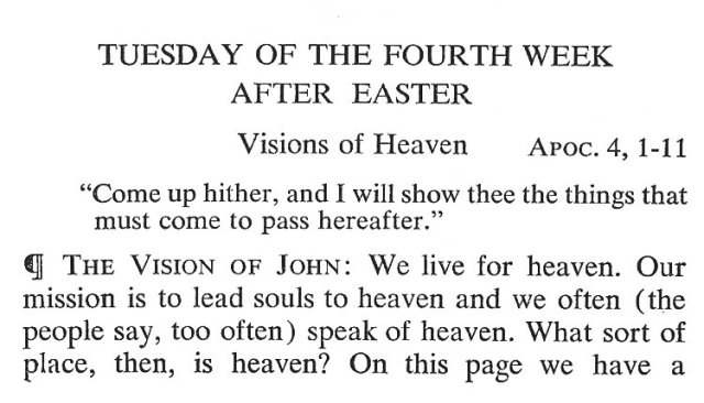 Tuesday of the 4th Week after Easter 1
