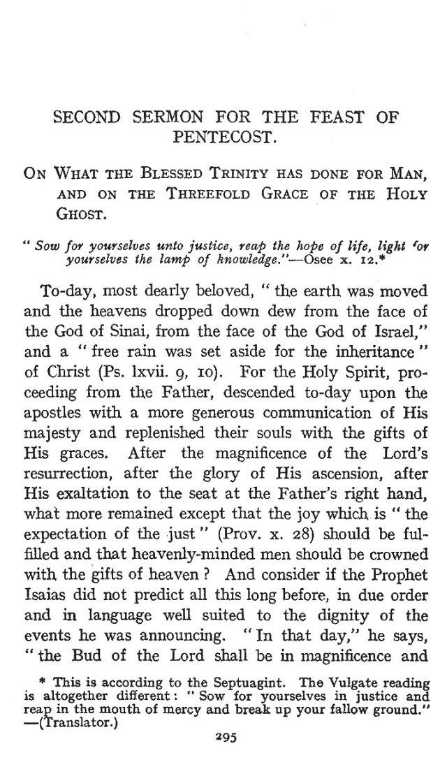 2nd Pentecost Sermon 1