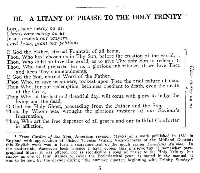 A Litany of Praise to the Holy Trinity 1