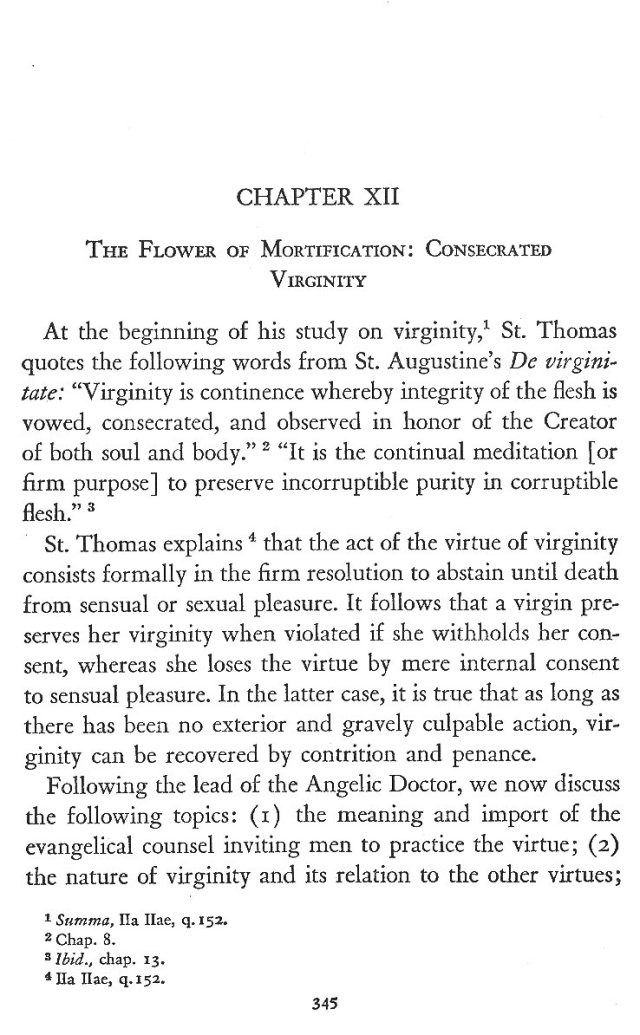 Consecrated Virginity 1