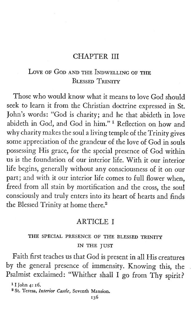Indwelling of the Trinity 1
