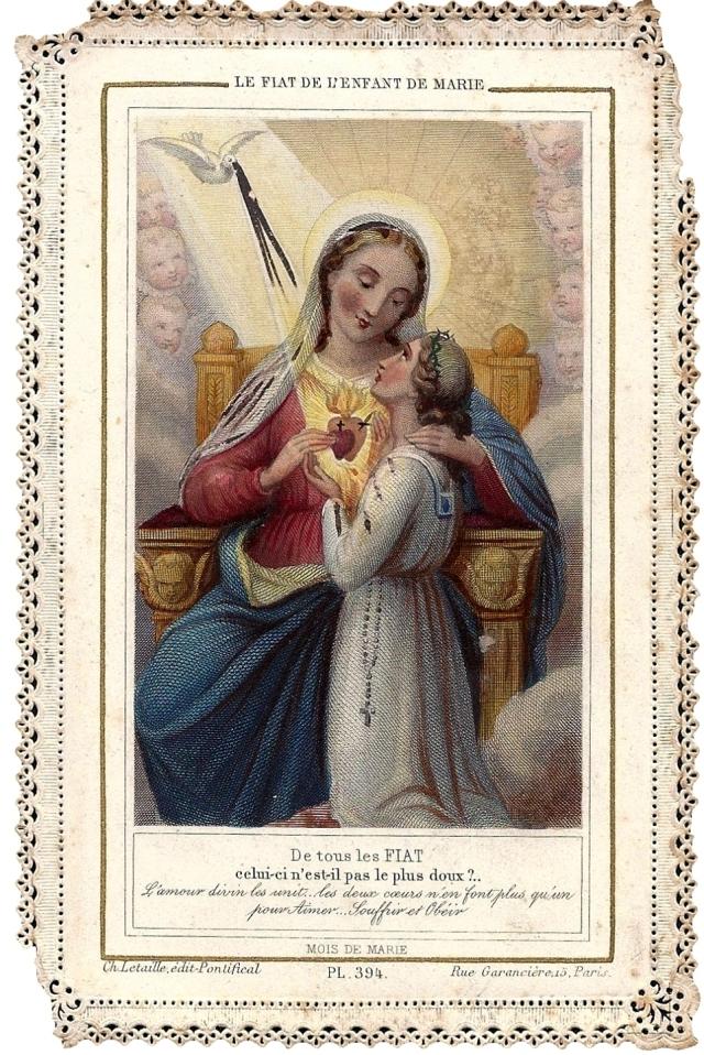 Le fiat de l'enfant de Marie