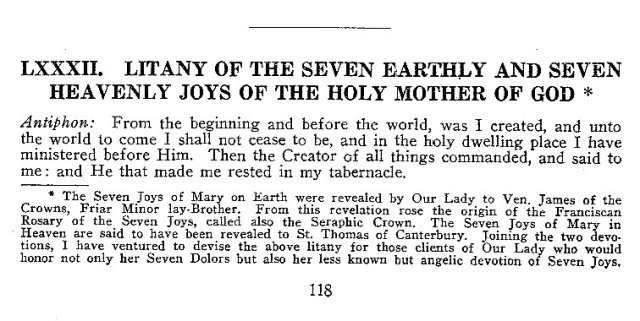 Litany of the Seven Joys BMV 1