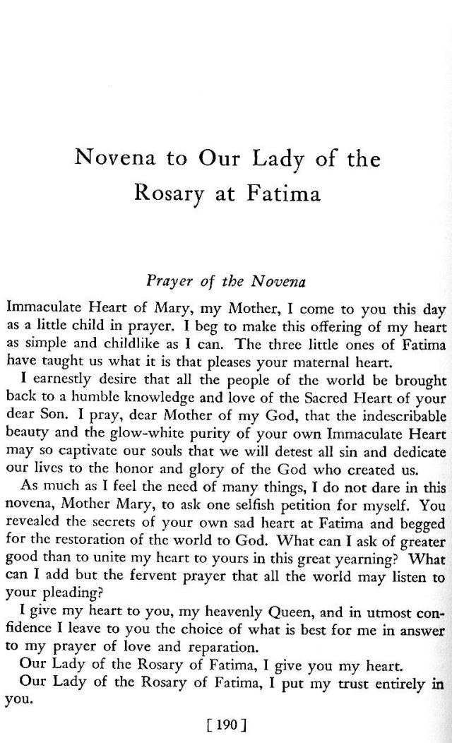 Novena to Our Lady of Fatima 1