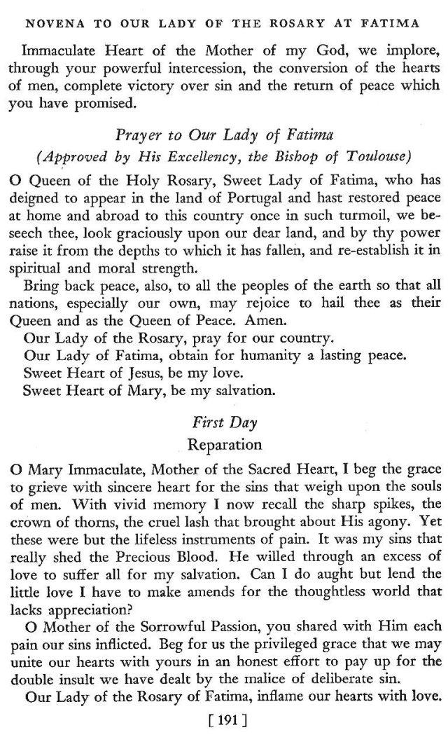 Novena to Our Lady of Fatima 2
