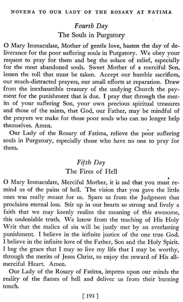 Novena to Our Lady of Fatima 4