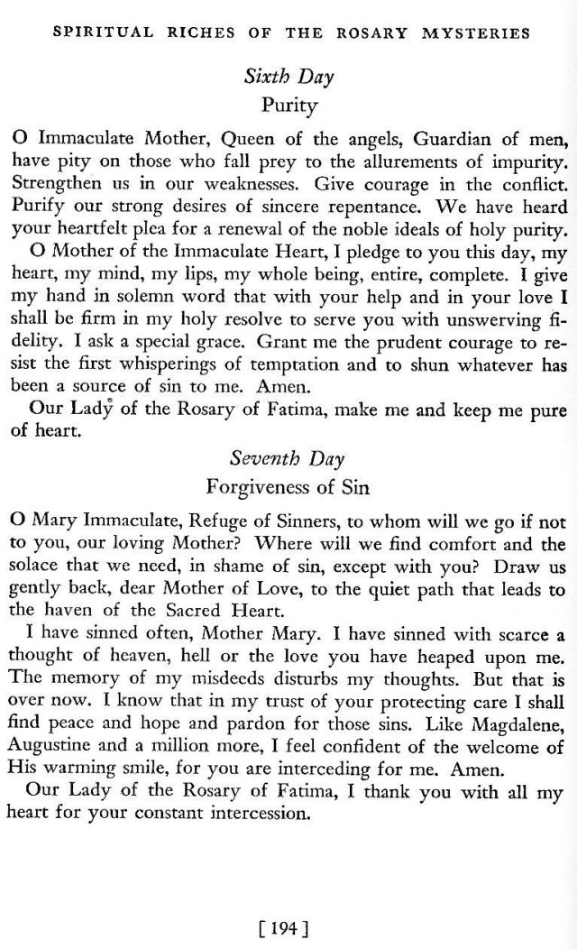 Novena to Our Lady of Fatima 5