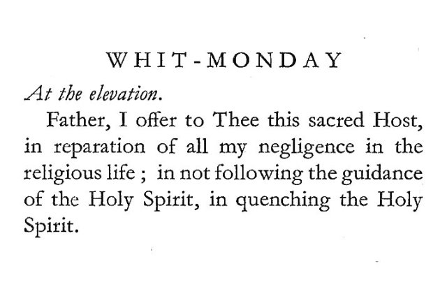 Prayer of St. Gertrude for Whit-Monday