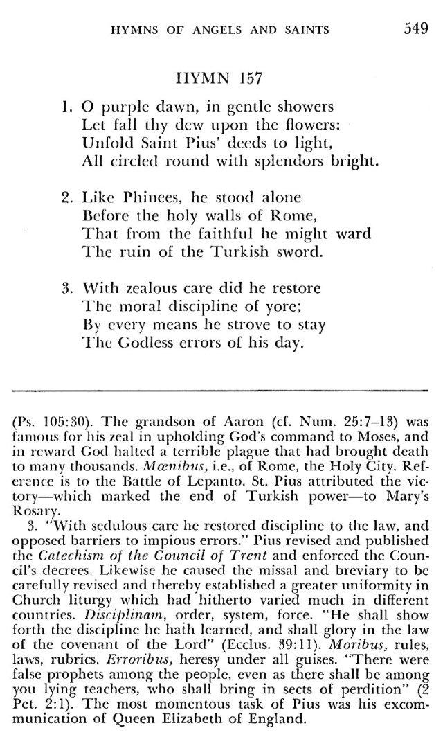 St. Pius V Hymns 10