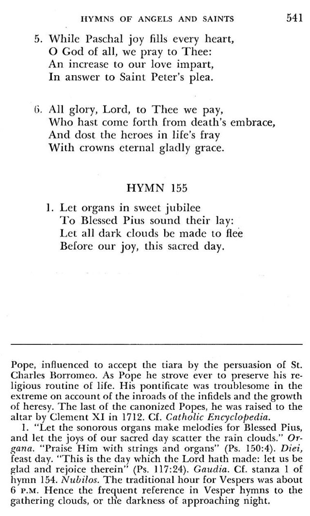 St. Pius V Hymns 2