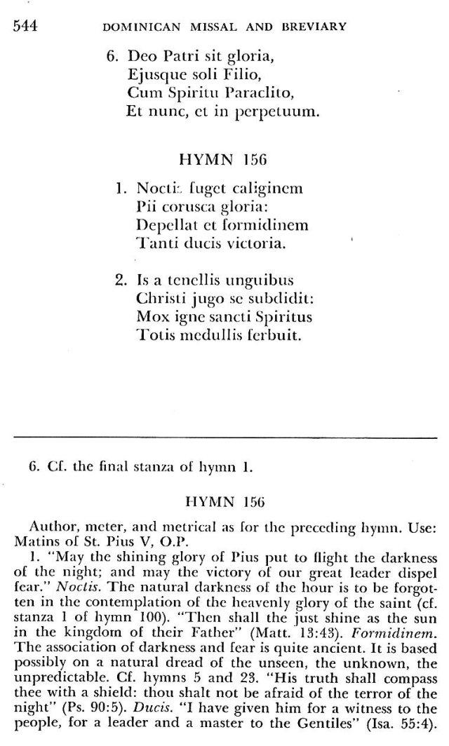 St. Pius V Hymns 5