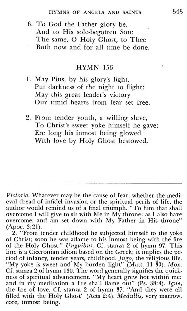 St. Pius V Hymns 6
