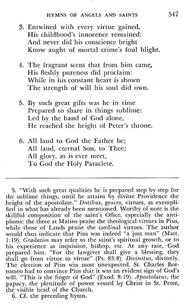 St. Pius V Hymns 8