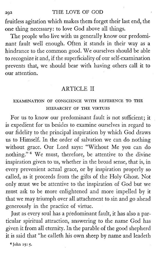 Two Methods of Examination of Conscience 6