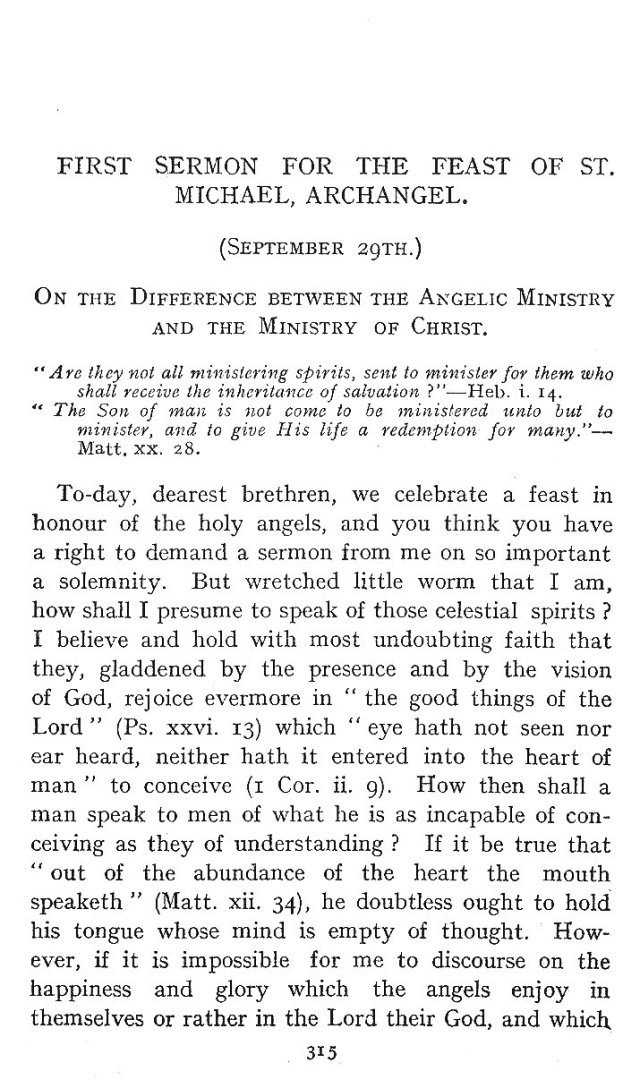 1st Sermon St. Michael 1