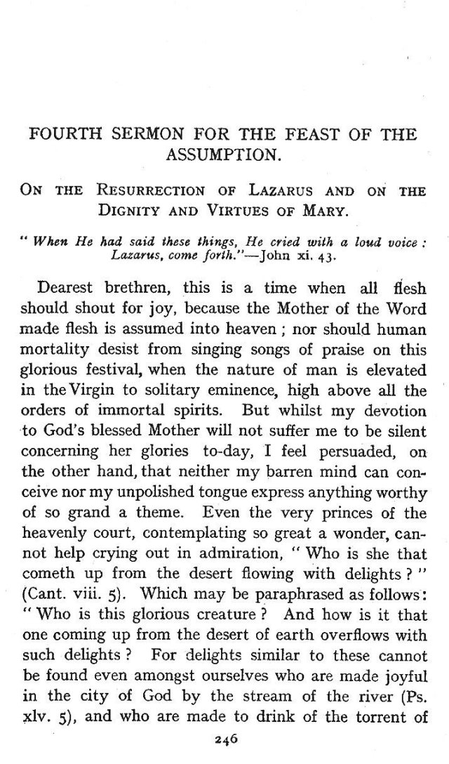 4th Assumption Sermon 1