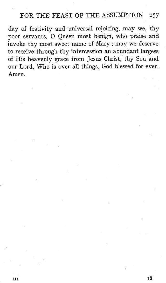 4th Assumption Sermon 12