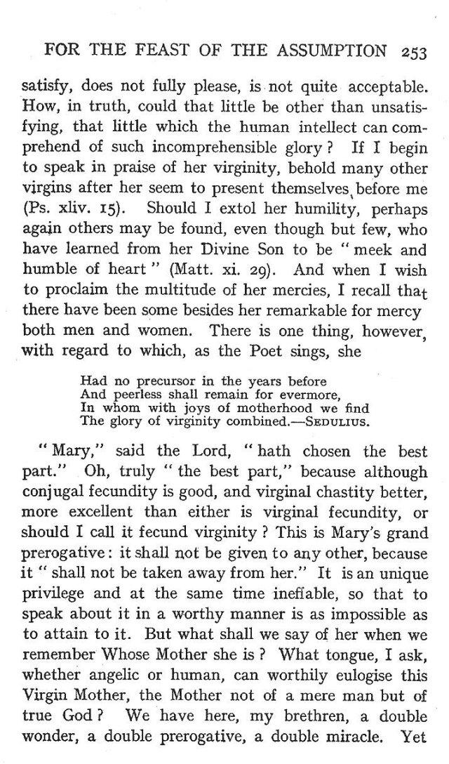 4th Assumption Sermon 8
