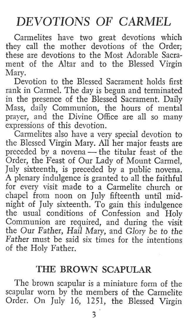 Carmelite Devotions 1