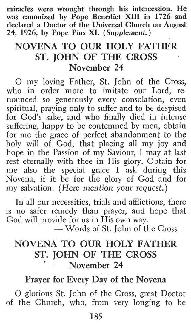 Devotions St. John of the Cross 2