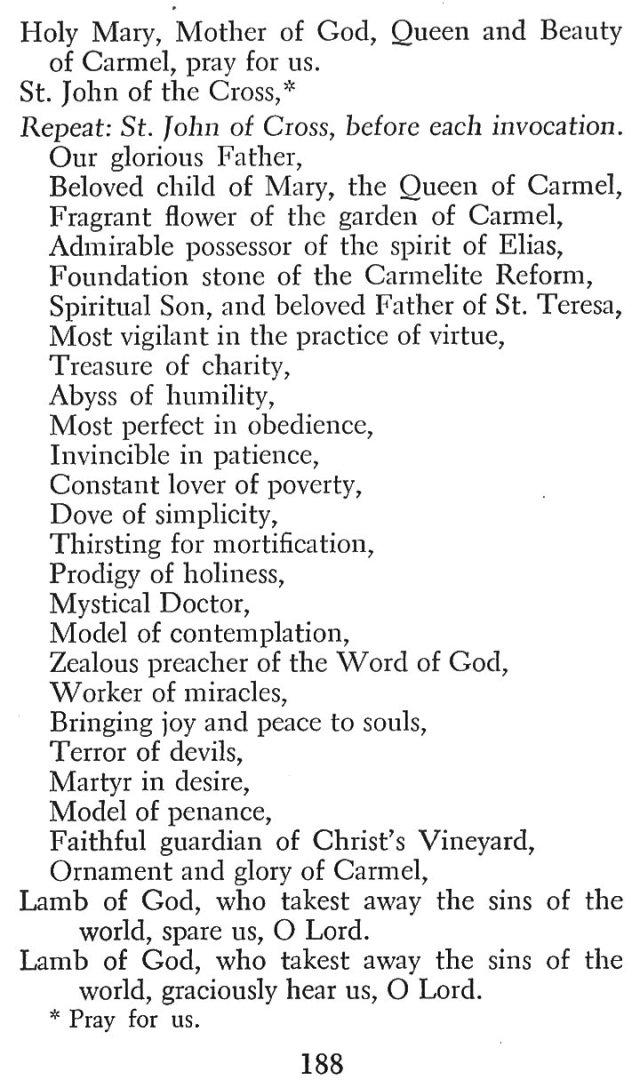 Devotions St. John of the Cross 5