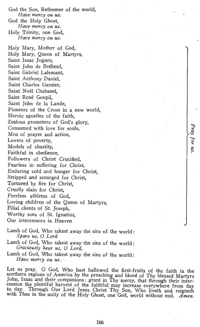 Jesuit North American Martyrs Litany 2