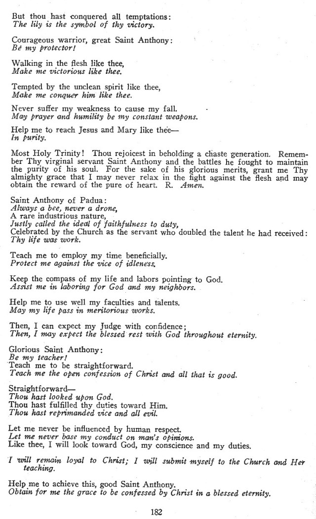 Litanies of Saint Anthony 5