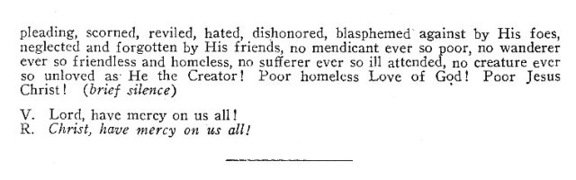 Litany for the Poor and Destitute 4