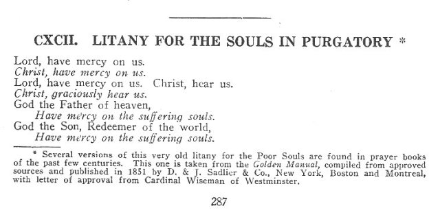 Litany for the Souls in Purgatory 1