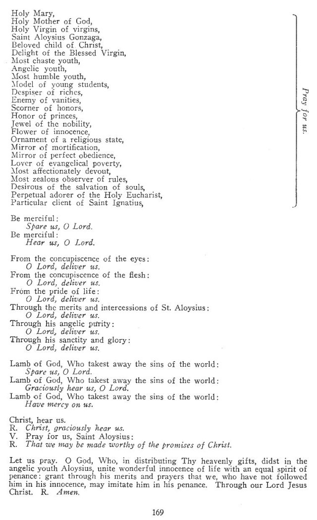 Litany of St. Aloysius 2