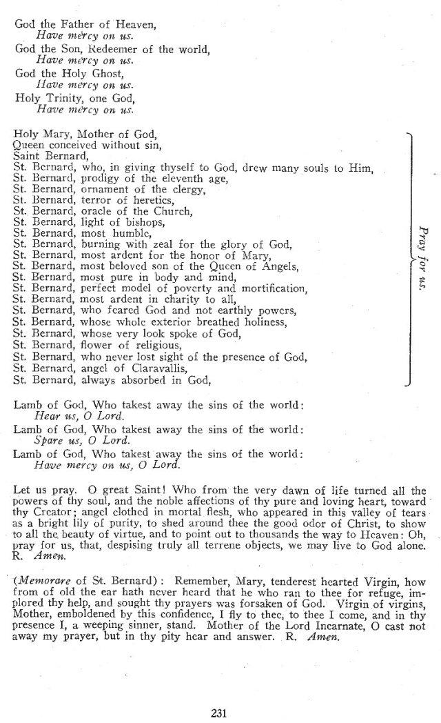 Litany of St. Bernard 2