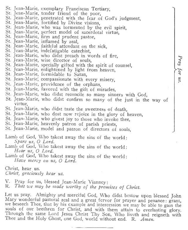 Litany of St. Jean-Marie 2