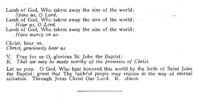 Litany of St. John 2