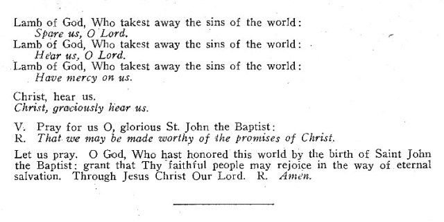 Litany of St. John 2