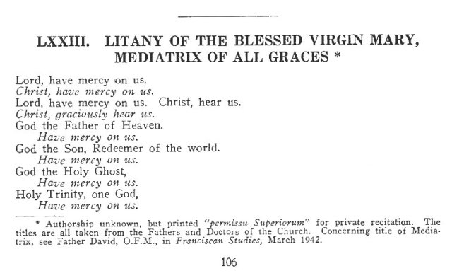 Litany of the BMV Mediatrix of All Graces 1