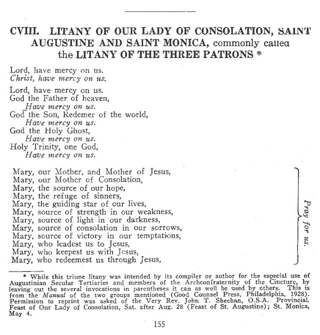 Litany of the Three Patrons 1