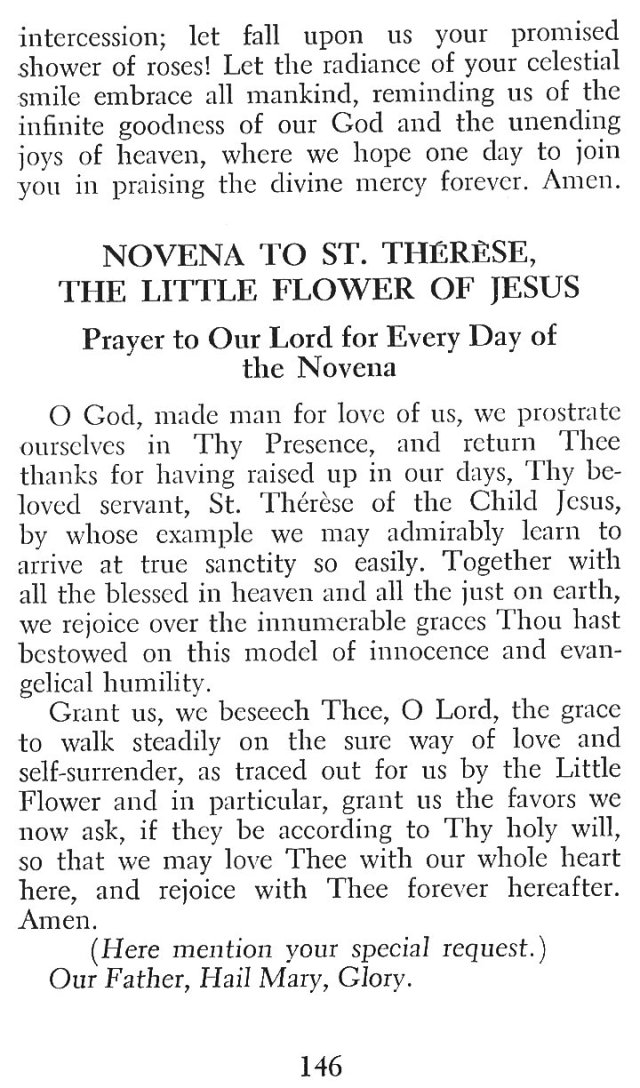 Little Flower Novena 3