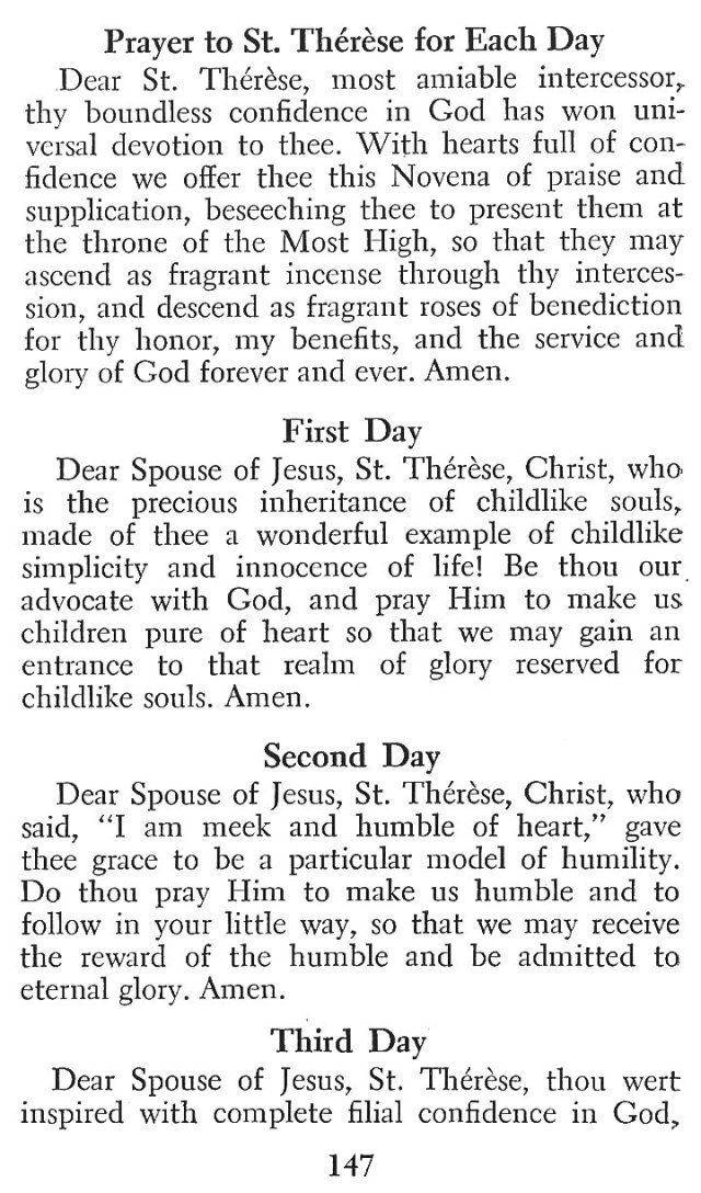Little Flower Novena 4