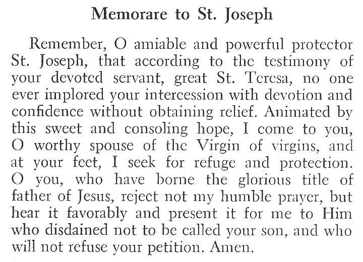photo regarding Memorare Prayer Printable named Memorare toward St. Joseph Commentaries, Notes, Concerns