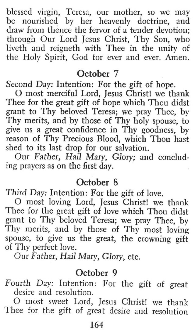 Novena in Honor of St. Teresa 2