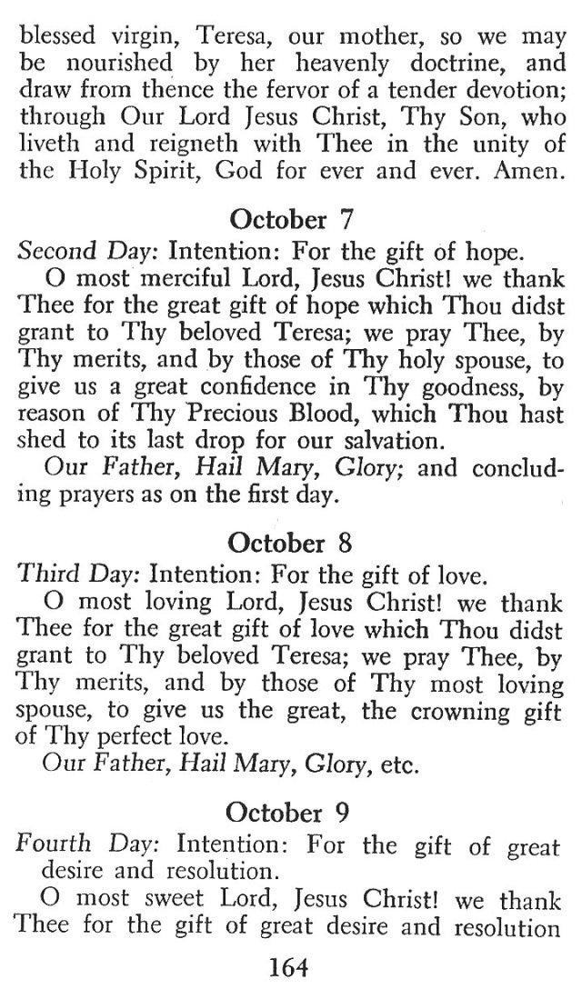 Novena in Honor of St. Teresa 2