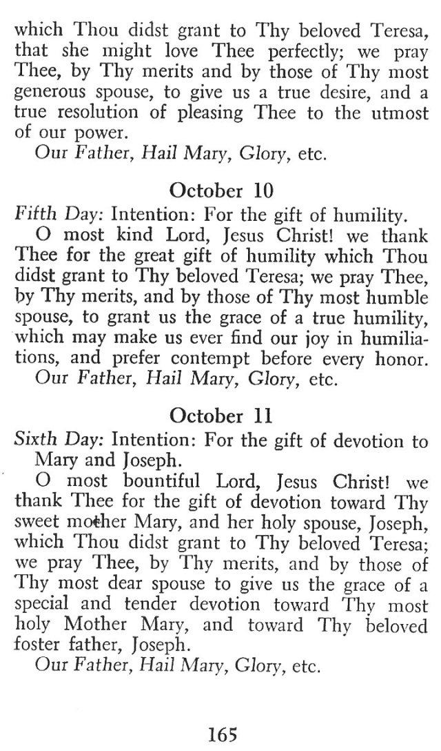 Novena in Honor of St. Teresa 3
