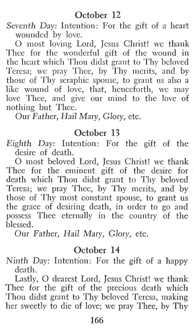 Novena in Honor of St. Teresa 4