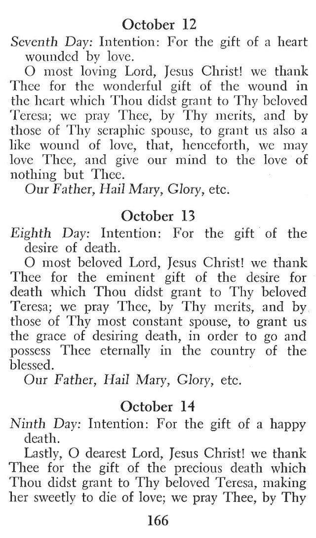Novena in Honor of St. Teresa 4